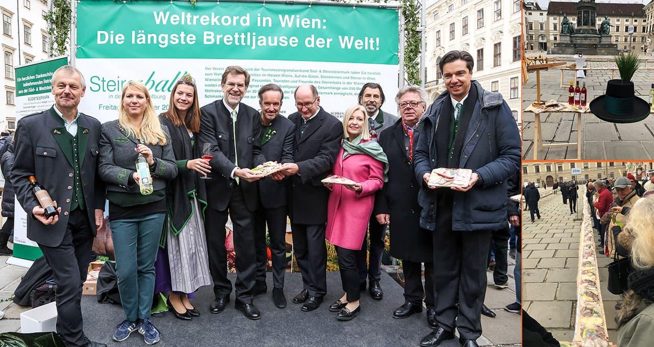 Längste Brettljause der Welt: Rekord in Wien geknackt